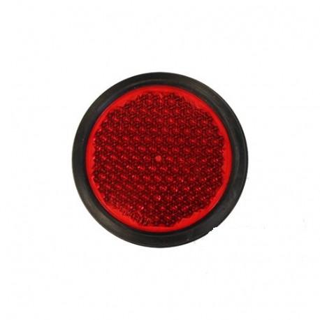 Catadrioptico redondo rojo 90mm
